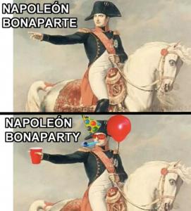 Napoleón Bonaparte (y Bonaparty)
